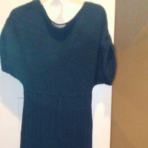 Evan Picone Turqouise/Blue SS Sweater Dress